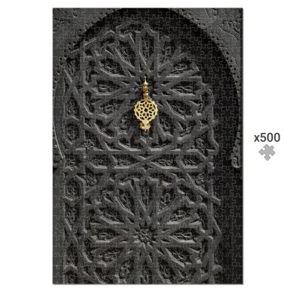 500 Piece Jigsaw Puzzle Ancient Carved Wooden Door