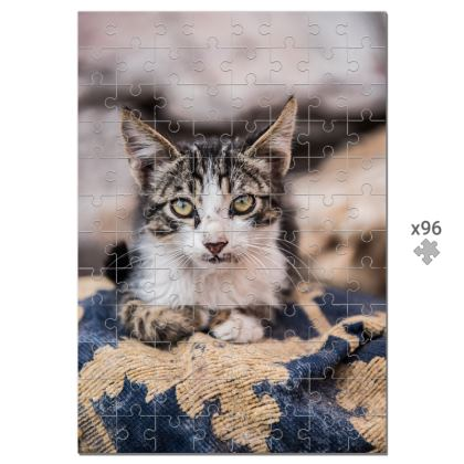 96 Piece Jigsaw Puzzle Moroccan Cat