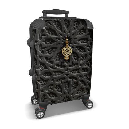 Suitcase Ancient Carved Wooden Door
