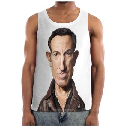 Bruce Springsteen Celebrity Caricature Cut and Sew Vest