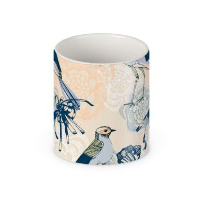 Japanese Woodblock in Blush Mug