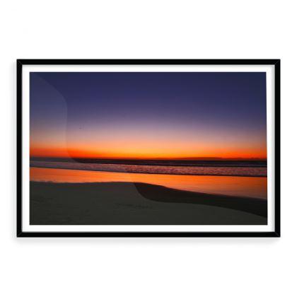 Framed Art Print Atlantic Coast Sunset