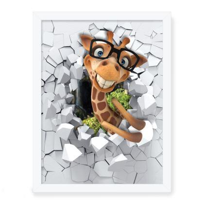 Framed Art Print Gavin the Giraffe