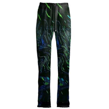 pantaloni in raso velluto linea la strada delle fiabe