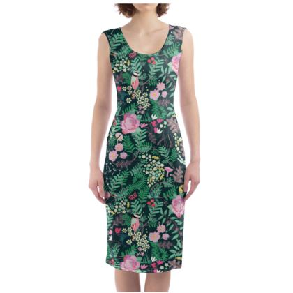 The Secret Garden - Luscious green Bodycon Dress