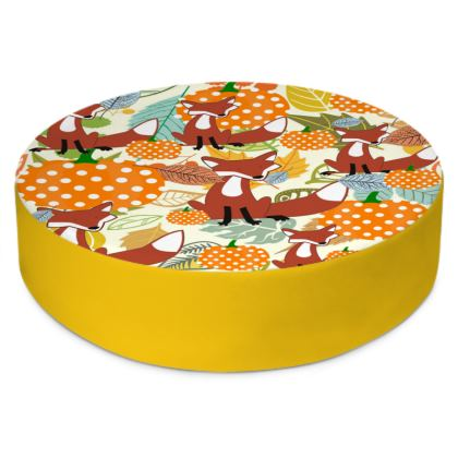 Pumpkins & Fox  Round Floor Cushions