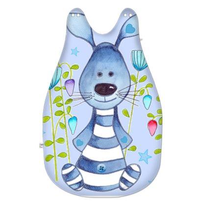 Snuggle Bunny Blue Baby Sleeping Bag