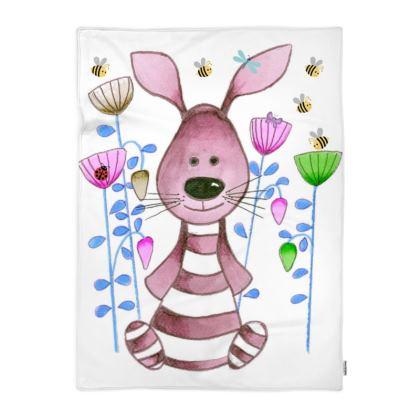 Snuggle Bunny Pink Blanket