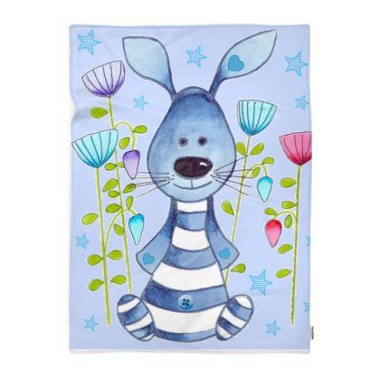 Snuggle Bunny Blue Blanket
