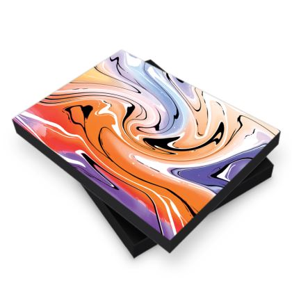 Photo Book Box - Multicolour Swirling Marble Pattern 4 of 12