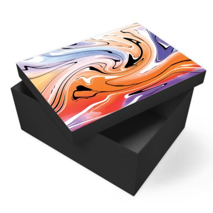 Photo Box - Multicolour Swirling Marble Pattern 4 of 12