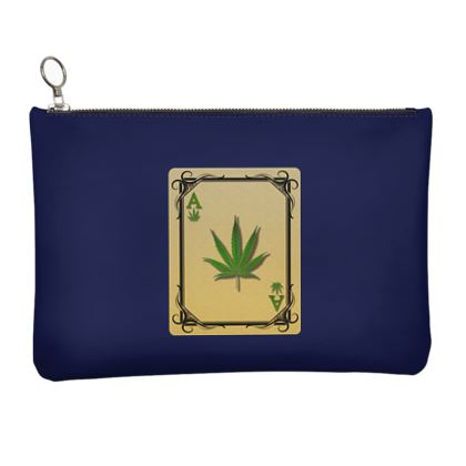 Leather Clutch Bag - Ace of Weed