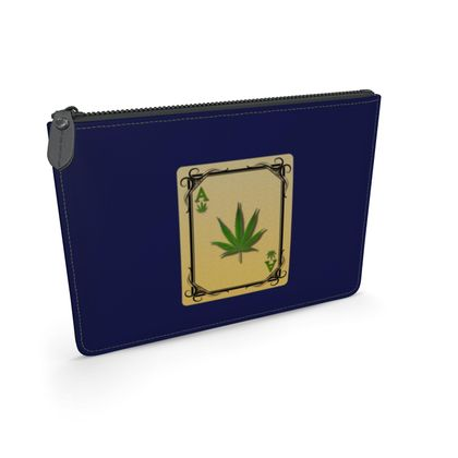 Leather Pouch - Ace of Weed