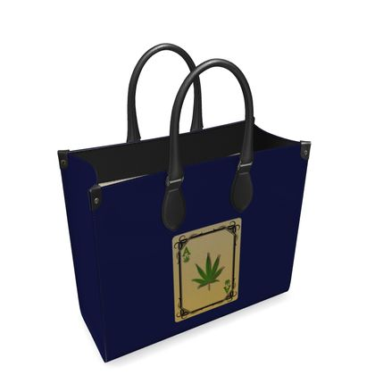 Leather Shopper Bag - Ace of Weed