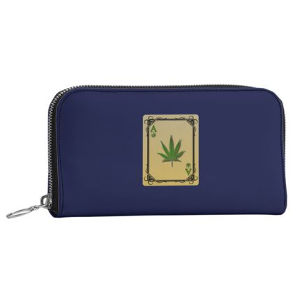 Leather Zip Purse - Ace of Weed