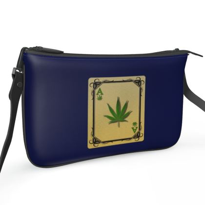 Pochette Double Zip Bag - Ace of Weed