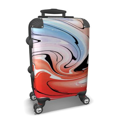 Suitcase - Multicolour Swirling Marble Pattern 5 of 12