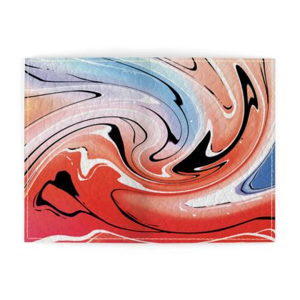 Passport Cover - Multicolour Swirling Marble Pattern 5 of 12
