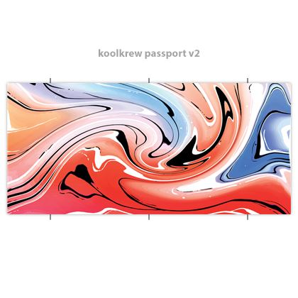 Passport Kool Krew - Multicolour Swirling Marble Pattern 5 of 12
