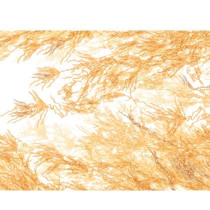 Gold Flowing Motif Silk Kimono