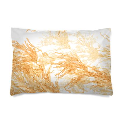 Gold Flowing Motif Pillow Case
