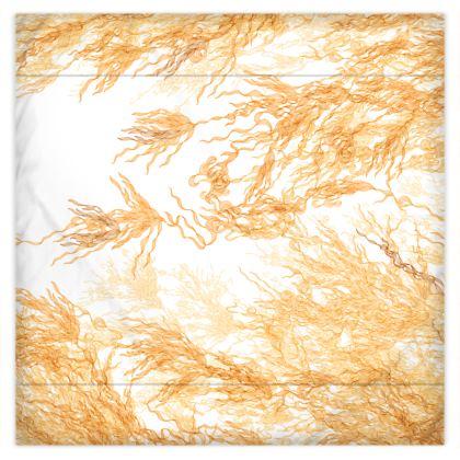 Gold Flowing Motif Duvet Cover Double