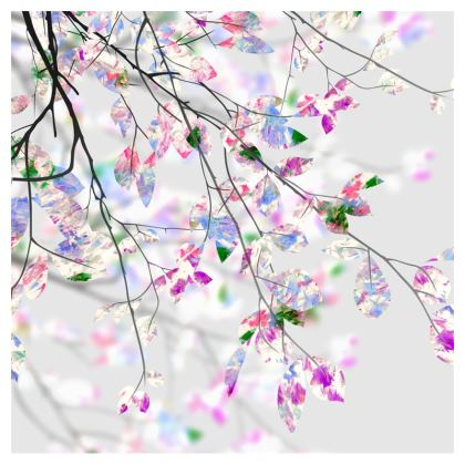 Springtime Branches Zip Top Handbag