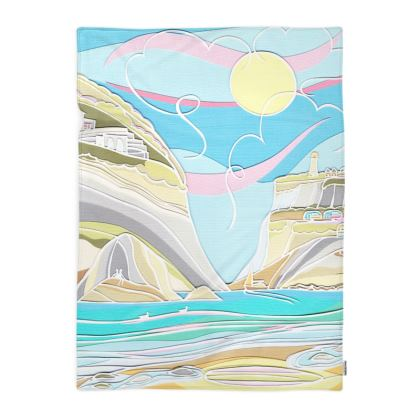Pastel Cove by the Cliffs Blanket