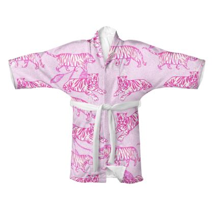 Tiger Print Pink Kimono