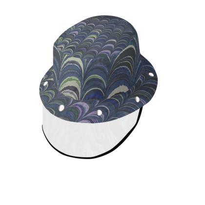 Bucket Hat With Visor - Around Ex Libris Blue Remix (1800 -1950)