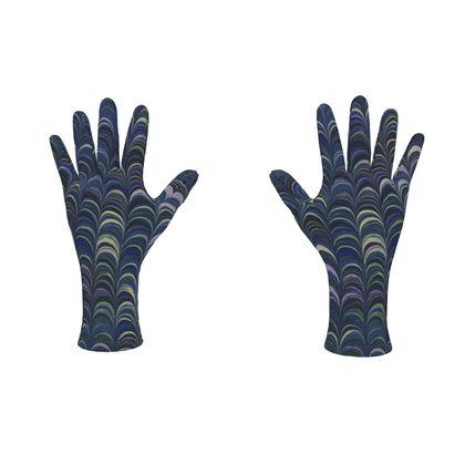 Fleece Gloves - Around Ex Libris Blue Remix (1800 -1950)