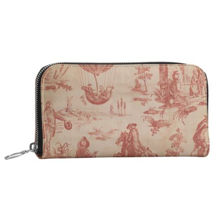 Leather Zip Purse The Ballon of Gonesse