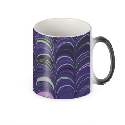 Heat Changing Mug - Around Ex Libris Purple Remix (1800 -1950)