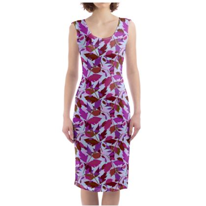 Bodycon Dress  Cathedral Leaves  Anemone