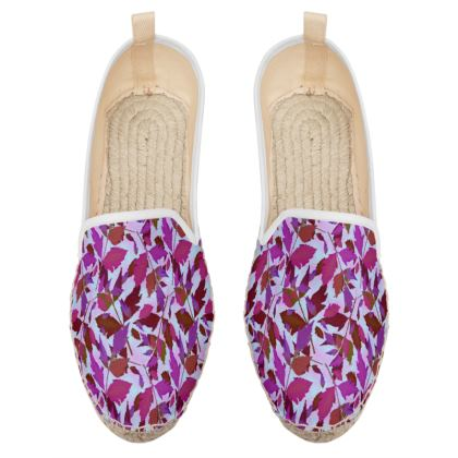 Loafer Espadrilles  Cathedral Leaves  Anemone