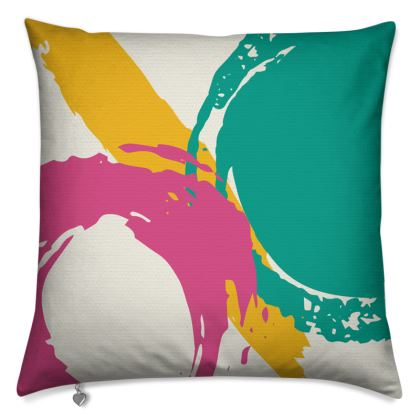 Modern cushion with abstract design