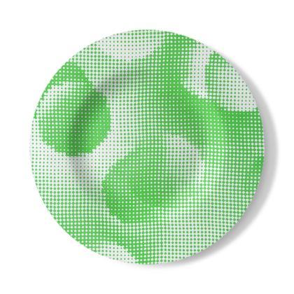 Decorative Plate - Endleaves of Art. Taste. Beauty (1932) Green Remix