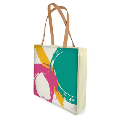 Modern abstract shopper bag