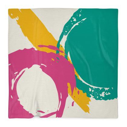 Modern abstract fleece blanket