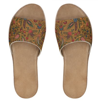 Woman's Nappa Leather Sliders The Conquecigrues 1785