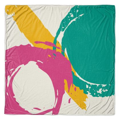 Modern abstract Sherpa throw