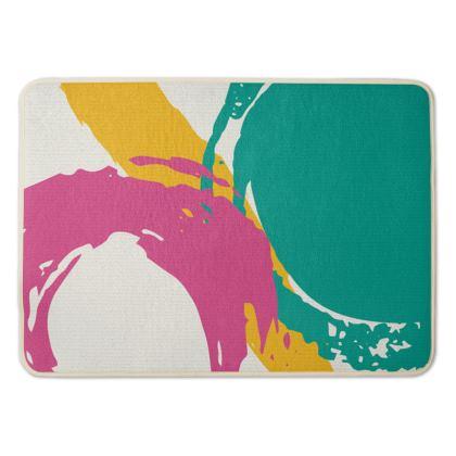 Modern abstract bath mat