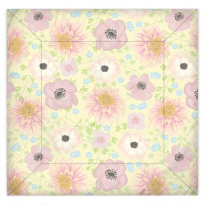 Pale Summer Garden Duvet Cover