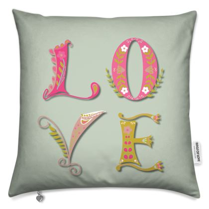 Pale Green Love Cushion