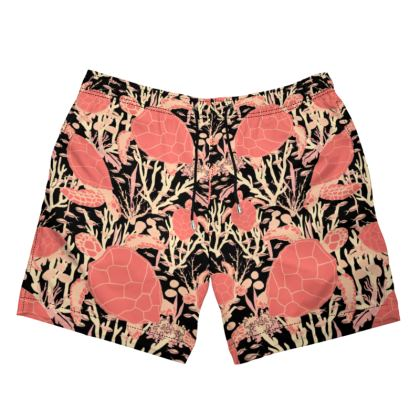 Men's Swimming Shorts - Sea Turtles