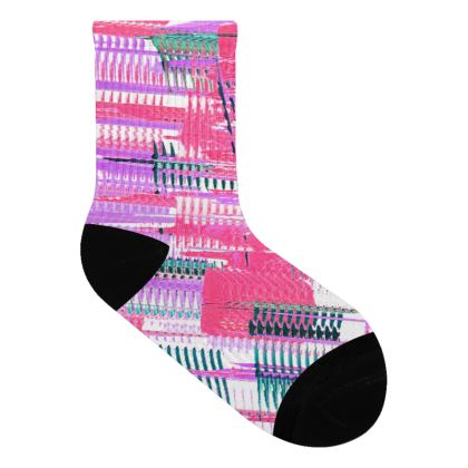 Long Pink Lines Socks