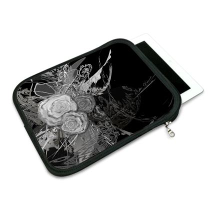 ipad slip case - ipad fodral - 50 shades of lace grey black
