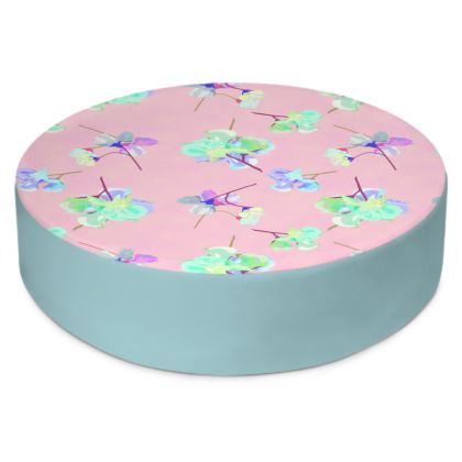Round Floor Cushions  My Sweet Pea  Soft Pink