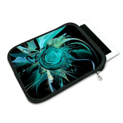 ipad slip case - ipad fodral -Turquoise black
