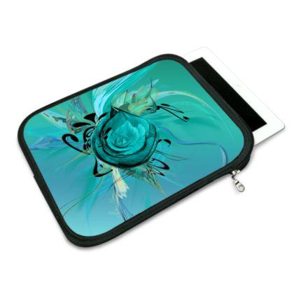 ipad slip case - ipad fodral - Turquoise on Turquoise